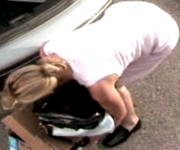 Katherine Heigl bent over ... 1 non-HD cap from 2005's SIDE EFFECTS
