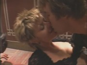 Amanda Tapping - Stuck (2002) (nipslip sex scene)