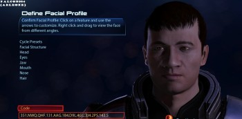Mass effect face codes celebrity