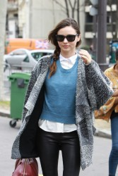 Миранда Керр, фото 3751. Miranda Kerr - arriving at the Miu Miu runway show, Paris - March 7, foto 3751
