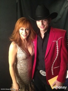 Reba McEntire - 2012 ACM awards - white dress preview candid