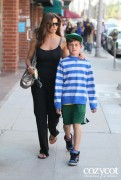 -ADDS- Charisma Carpenter - leaves a medical building on Bedford Avenue with her son 05-23-2012 +C-Thru+