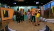 Teri Hatcher - The View - amazing leg show tiny shorts - caps