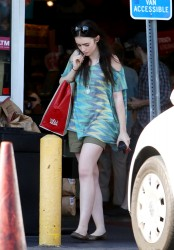 Lily Collins - @ Whole Foods 7/22/12